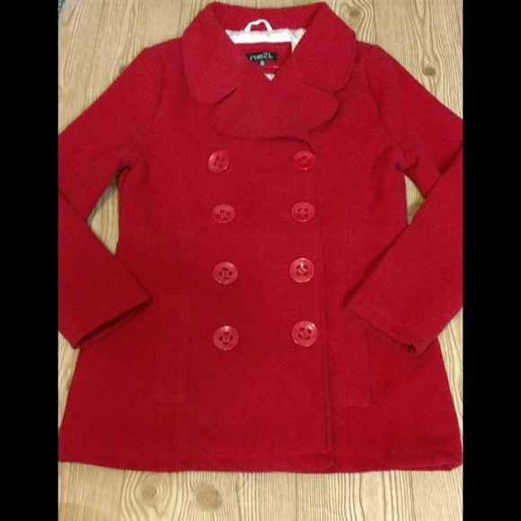 Rue21 Jackets & Blazers - *SOLD* Rue21 Red winter pea coat